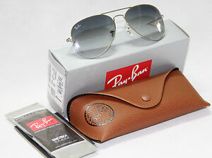77688383538b Geunine Ray Ban Aviator RB3025 003 32 all size Silver Frame Gray ...