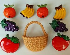 Fruit Healthy Food Monkey Novelty Dress It Up Craft Buttons BUNCH OF BANANAS