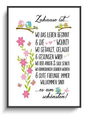 Wandbild A4 Deko 3er Set Minimal 17 Sprüche Zitate Poster Zimmer Familie Zuhause