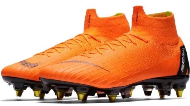 official photos 57aed e31d8 Nike Mercurial Superfly 6 Elite 360 SG Pro ACC Orange Black Ah7366 810  Men's 13