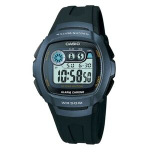 Casio Mens Digital LCD Watch with Stopwatch, Alarm, Dual Time etc. - W-210-1BVES