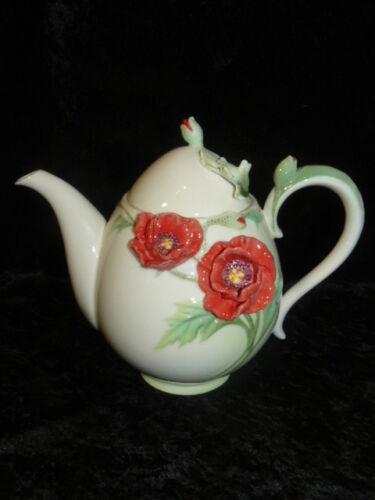 Franz Collection Porzellan Kanne Teekanne Blume Mohn