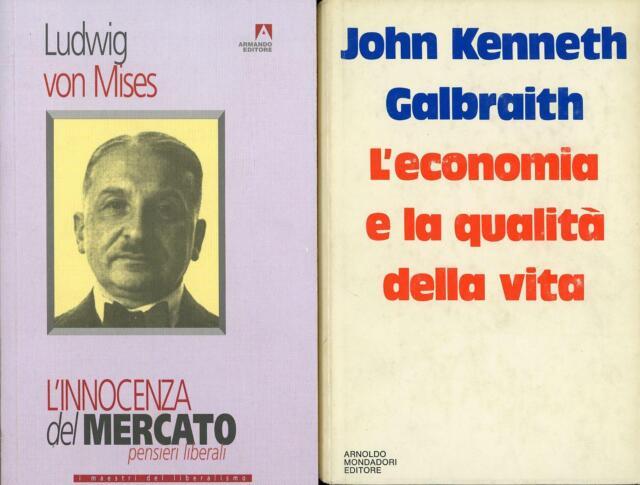 VON MISES, LudwigL'innocenza del mercato + altro libro di economia