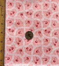 Quilting Fabric, Coral Floral by Classic Cotton 100% Cotton By the 1/2 Yard