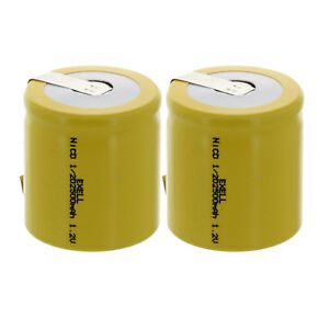 2x-1-2D-Size-1-2V-Rechargeable-Batteries-w-Tabs-For-Solar-Remotes-Key-Pads