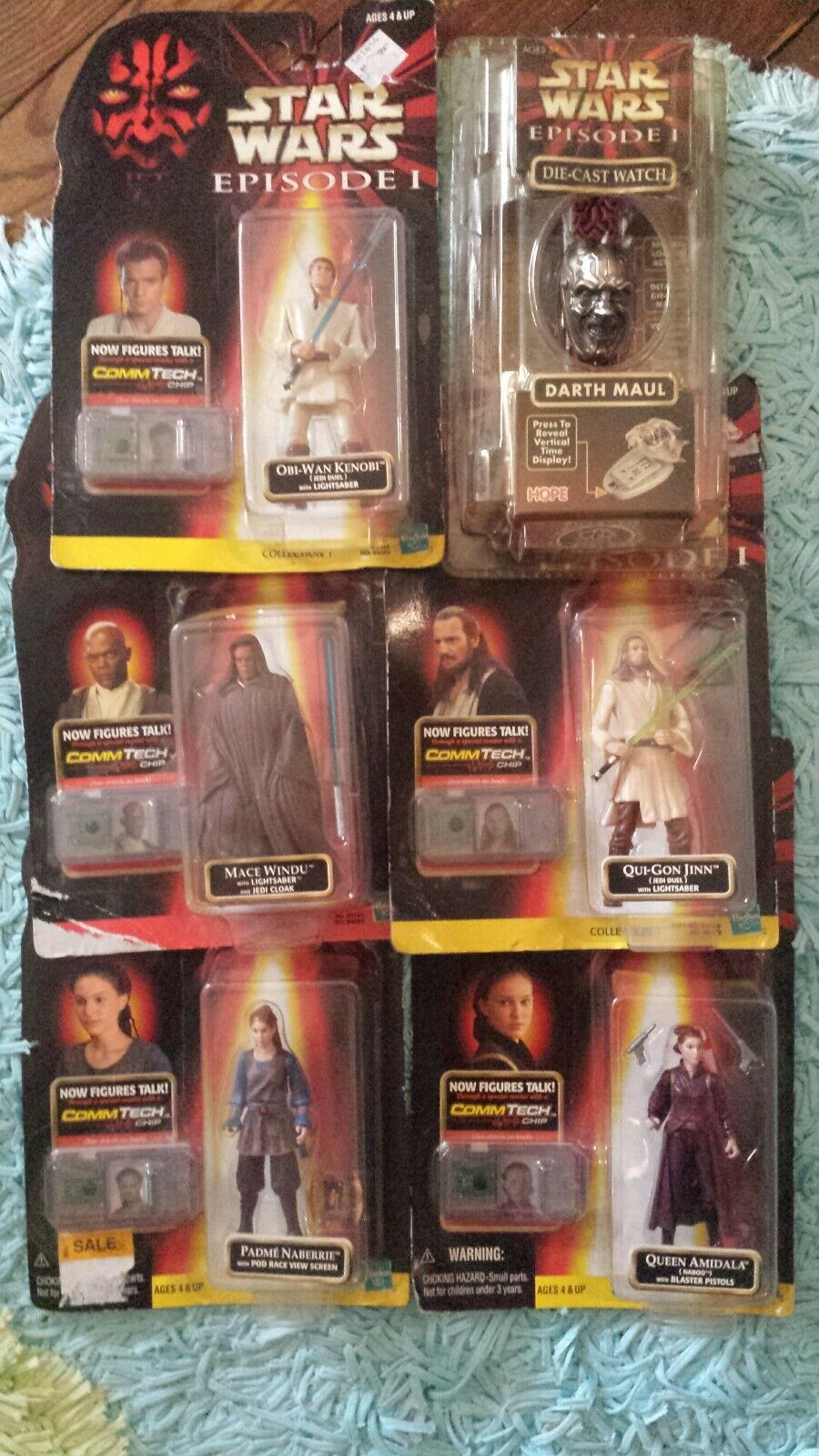 Star Wars Episode 1 action figures collection