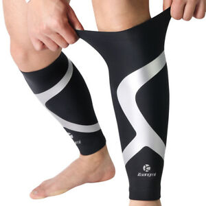 22d44df288 Image is loading Kuangmi-Calf-Compression-Sleeve-Protector-Leg-Running-Shin-