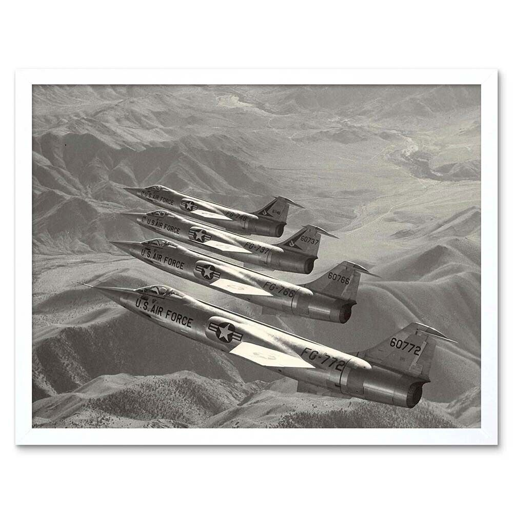 MILITARY AIR PLANE FIGHTER JET LOCKHEED XF104 USAF POSTER ART PRINT BB1083A