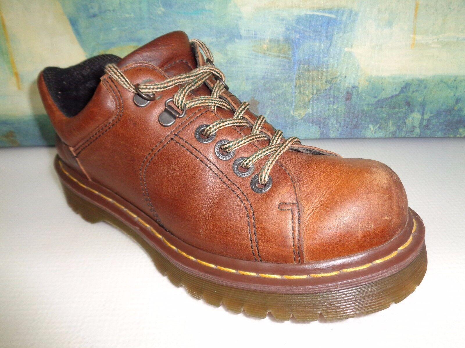 Dr. Martens Brown Leather Oxfords shoes 8312 Sz UK 7  US 8 Mens  9 Women