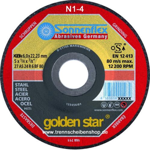1x 230x6x22,23 Sonnenflex Schruppscheibe Stahl Stahllegierungen 4103510102038