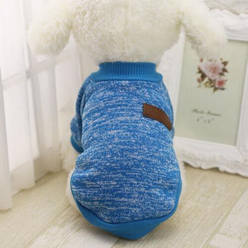 Pet Soft Coat Dog Jacket Winter Clothes Puppy Cat Sweater Cloth Coat Apparel ILC