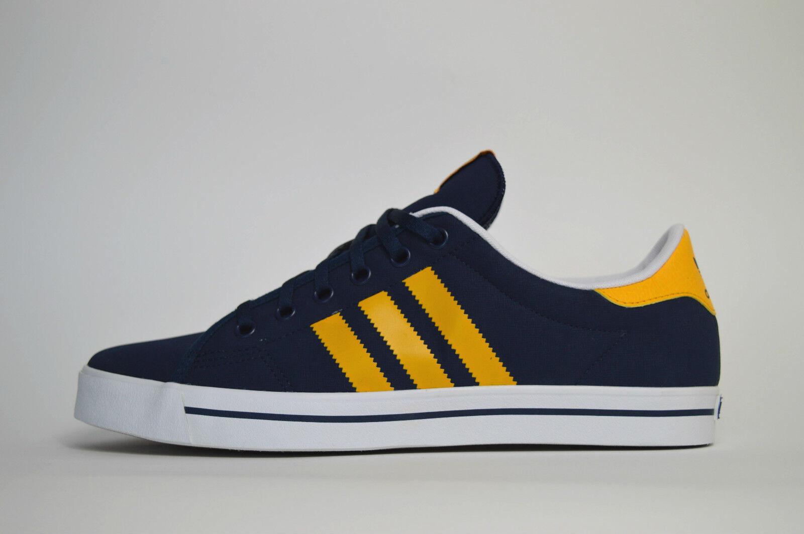 Adidas Adicourt Stripes NEU Navy Blau Herren Sneaker Schuh Freizeit max roshe zx