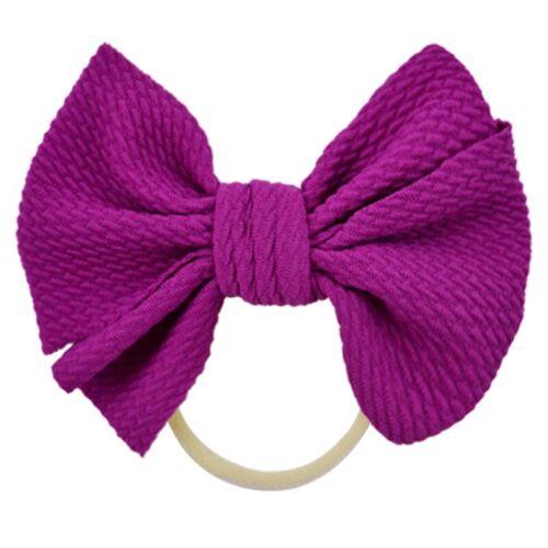 Baby Toddler Elastic Bow Hairband Girls Headband Turban Stretch Knot Head Wrap