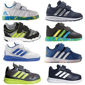 6bf4679c5ee692 Das Bild wird geladen adidas-Performance-Kleinkind-Schuhe-Jungen-Sneaker- Klettverschluss-Turnschuhe