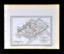 1841 Perrot France Map Departement Herault Montpelier Beziers Agde Cette St Pons