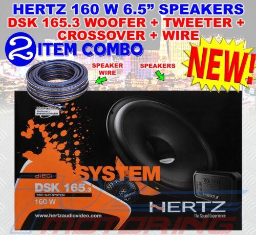 "HERTZ DSK 165.3 CAR AUDIO 6.5/"" COMPONENT SPEAKERS MIDS TWEETERS CROSSOVERS NEW"