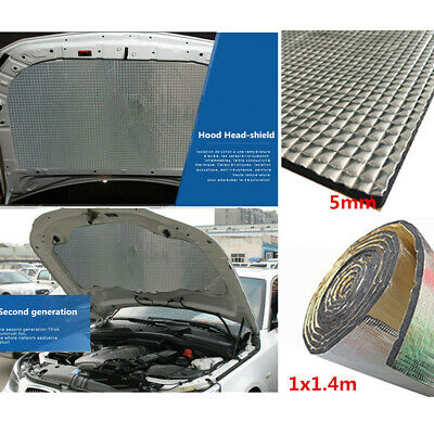1*1.4m Car Insulation Heat Shield Mat DIY Car Hood Cotton Pad Turbo Exhaust Muff