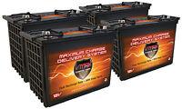 Qty 4 Vmax 12v Xtr155 155ah Golf Cart Batteries For 48v, Replace Us12v Xc2