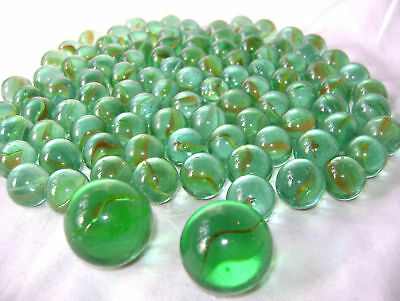 NEW 50 REGULAR 16mm 3 SHOOTER DOBBER MARBLES IN NET PEARLY COLOURS SK TY3577