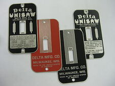 Vintage Switch Plates Delta Unisaw And Delta Mfg Styles New Stainless Steel