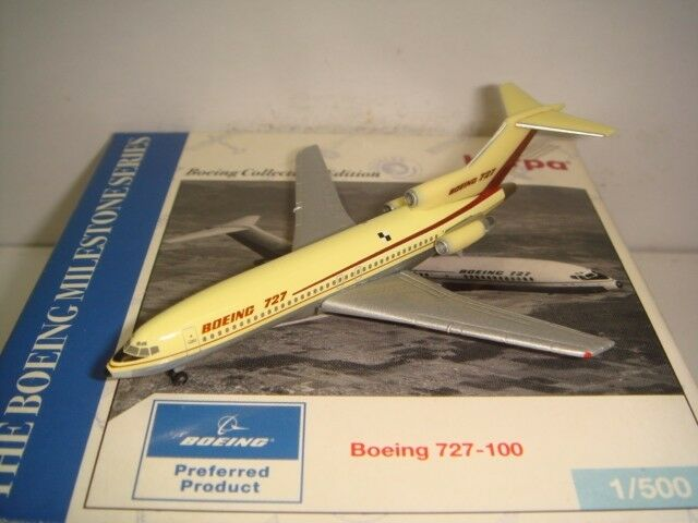 Herpa Wings 500 Boeing Aircraft Company B727-100  1960s casa Color  1 500 NG