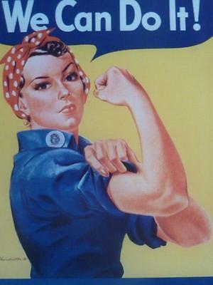 World War II POSTER propaganda WE CAN DO IT women factory work emancipation