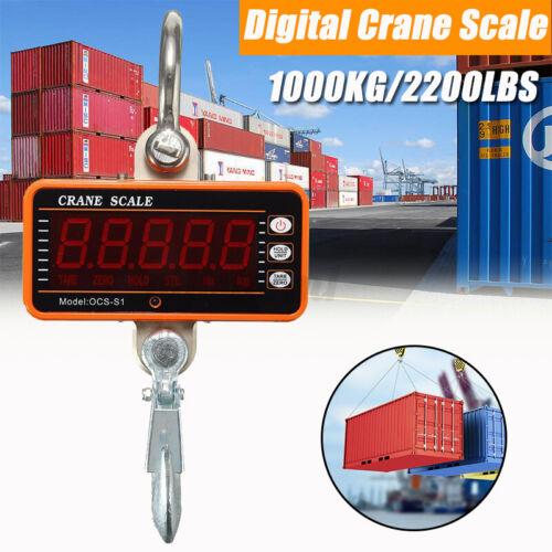 1000KG LCD Hängewaage Lastenwaage Kranwaage Industriewaage Waagen