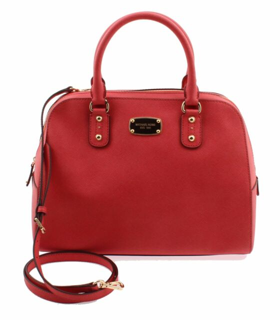 dfad017979e8 NWT Michael Kors Ciara Saffiano Leather Satchel Handbag 35S3GSAS3L  WATERMELON