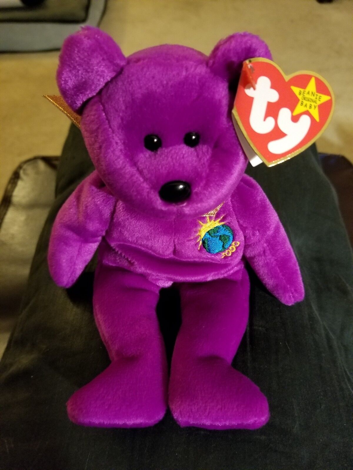 Ty Beanie Baby Babies Millennium Millennium Millennium Bear 2000 with Errors  Mint condition  422f88