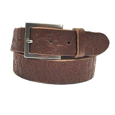 "35mm Ladies Black Full Grain Hide Real Leather Belt Made In UK 28/""-44/"" LHA-007"