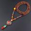 Lange-Halskette-Nepal-Boho-Anhaenger-Retro-Vintage-Holz-Handgefertigt-Perlen Indexbild 11