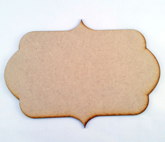 20cm x 10cm MDF Wooden Plaque Sign Blank Craft Shapes with hanging GINGERBREAD