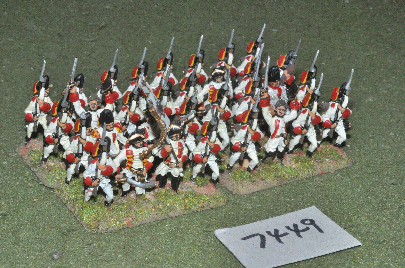 25mm 7YW   russian - seven years war infantry 32 figures metal - inf (7449)