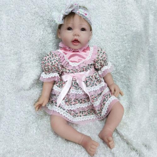 "Realistic 22/"" Reborn Baby Dolls Newborn baby Girl Lifelike Silicone Vinyl Toys"