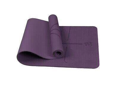 Bild 401 - TPE-Yogamatte-Fitnessmatte-Gymnastikmatte-Pilates-Sportmatte-Bodenmatte-60-80cm