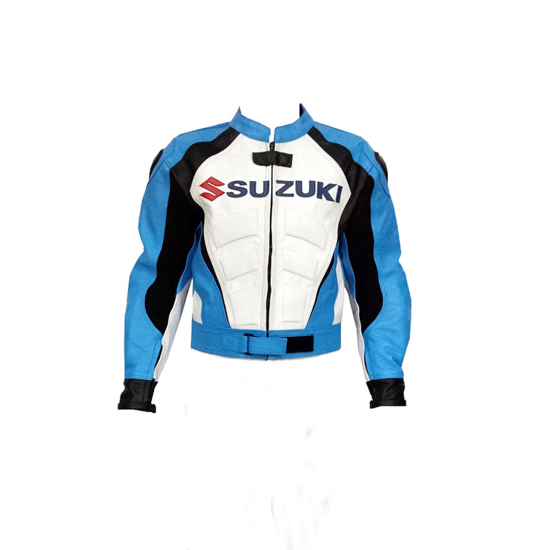Motocicleta SUZUKI Racing Armor Protective Racing Chaqueta de piel de vaca