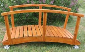 Handcrafted insects/weather resistant cedar wood garden bridge kits Canada Preview