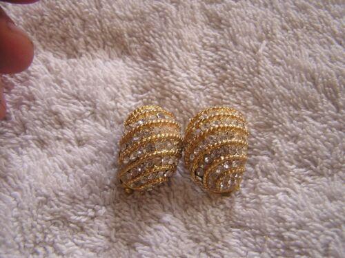 Designer Statement Jewelry Ciner Designer Earrings Vintage Pave Rhinestone Clip On 1950s Fine Vintage Wedding Jewelry
