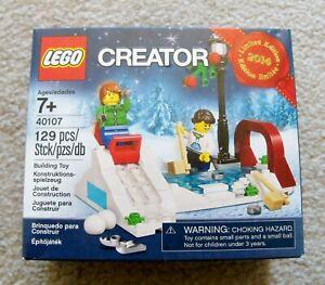 LEGO-Holiday-Christmas-2014-40107-Winter-Skating-Scene-New-amp-Sealed