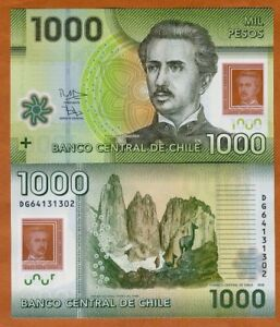 Chile-1000-1-000-Pesos-2016-2018-Polymer-P-161-New-Date-UNC