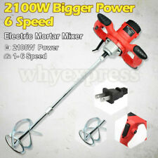 Us 2100w Drywall Mortar Mixer Cement Render Paint Tile Concrete Plaster Rotary