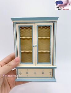 Dollhouse Miniature 1/12 Wood Cabinet Bookcase Bookshelf Furniture Accessory