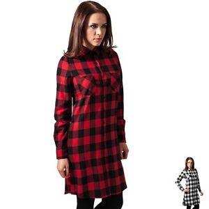 Shirt Ladies Camicia Donna Checked Tb1216 Classics Flanell Abito Urban Dres Iq07RxUB