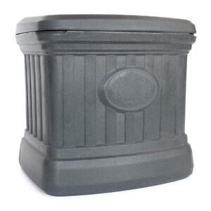 FCMP Outdoor SB120-GRY-S 26 Gallon Outdoor Utility Storage Bin Container, Gray