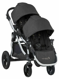 Baby-Jogger-City-Select-Twin-Tandem-Double-Stroller-w-Second-Seat-Jet