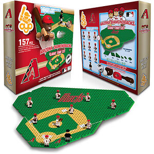 ARIZONA DIAMONDBACKS OYO GAME TIME FIELD SET 10 FIGURES INFIELD/OUTFIE<wbr/>LD 157 PCS