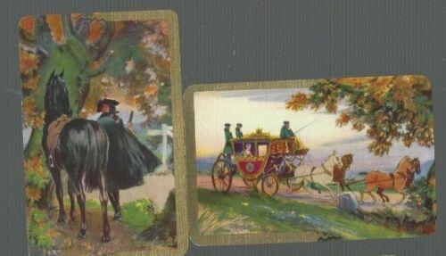"Swap Playing Cards 2 VINT ENG NMD /""CLAUDE DUVAL/& THE DUTCHESS ART  BARRIBAL BA59"