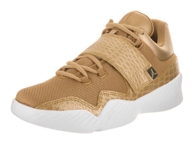 9dd551417e8200 Men s Air Jordan J23 SNEAKERS Gold White Sport Life Basketball Shoes ...