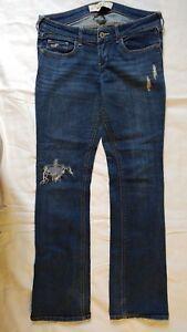 Hollister Junior Women's Distressed Stretch Blue Jeans Size 5