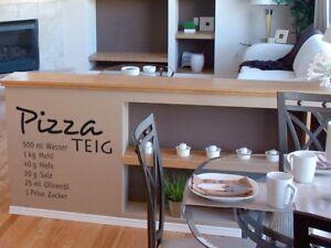 Wandtattoo für Küche Esszimmer Essen Kochen Pizza Rezept Pizzateig ...